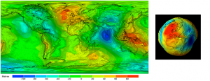 Encyclopedie environnement - milieu marin - projection plane geoide