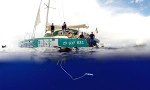 pollution plastique - oiseau prisonnier - plastic pollution - 7th continent expedition 2015
