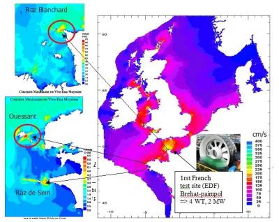 环境百科全书-潮汐-潮汐速度分布图