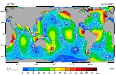 环境百科全书-潮汐-高空卫星
