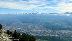 Encyclopédie environnement - couleur du ciel - poussière polluante Grenoble - color sky pollution
