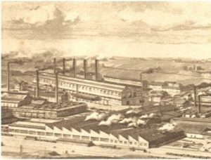 Encyclopedie environnement - energie - usine Henrichshutte - Henrichshütte factory in the Ruhr in 1880