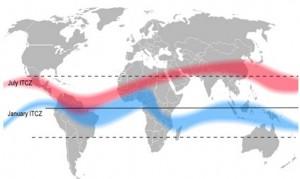 Encyclopédie environnement - alizés - courant est equatorial juillet - trade winds