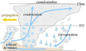 Encyclopédie environnement - orages - schema fonctionnement orage - storm functioning - storm