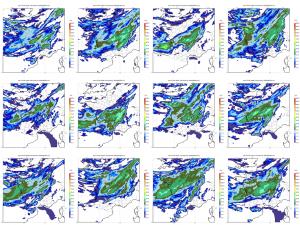 Encyclopedie environnement - prevision ensemble - Prevision ensemble des pluies 4 aout 2016 - forecast storm 2016