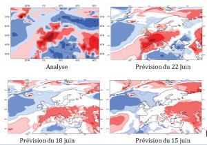 Encyclopédie environnement - prévision météorologique - prévision canicule juillet 2015 - forecast