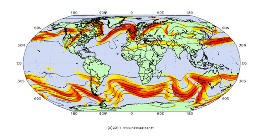 Encyclopédie environnement - jet streams