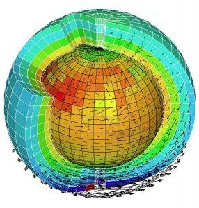 Encyclopédie environnement -prévision météorologique - schéma atmosphère - representation discretized atmosphere