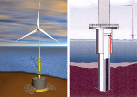 Encyclopedie environnement - sols ingenieur - eolienne off shore 5mw - offshore wind turbines
