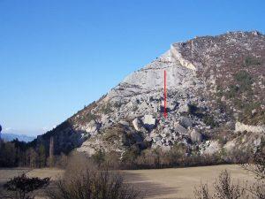 Encyclopedie environnement - eboulement - glissement Claps de Luc - sliding of luc's claps - landslides