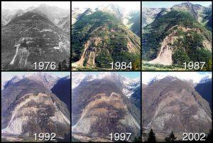 Encyclopedie environnement - eboulement - glissement Clapiere - landslides
