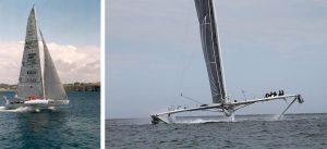 Encyclopedie environnement - Poussée d'Archimède portance - voilier hydroptère Alain Thébault - archimede's weight and thrust - hydrofoil saiboat