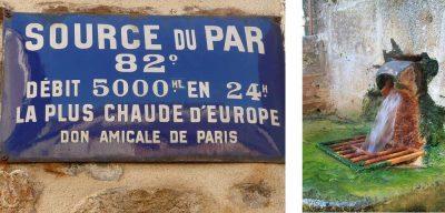 Encyclopédie environnement - eaux minérales - source thermale du Par Chaudes-Aigues