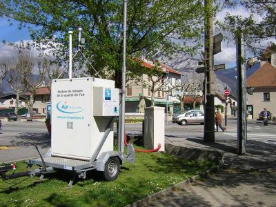 Encyclopédie environnement - droit qualité de l'air - Station mobile en proximité trafic - mobile station
