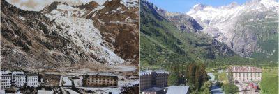 glacier - glaciers montagnes - glacier rhone - glacier rhone avant apres - encyclopedie environnement - rhone glacier - mountain glaciers