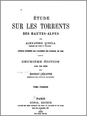 page garde livre surell - torrents - torrents hautes alpes - geomorphologie - amexandre surell - barrages - encyclopedie environnement
