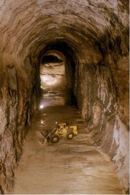 creusement galerie stockage - galerie stockage - stockage gaz naturel - gaz naturel - stockage hydrocarbures - encyclopedie environnement - storage gallery lavera