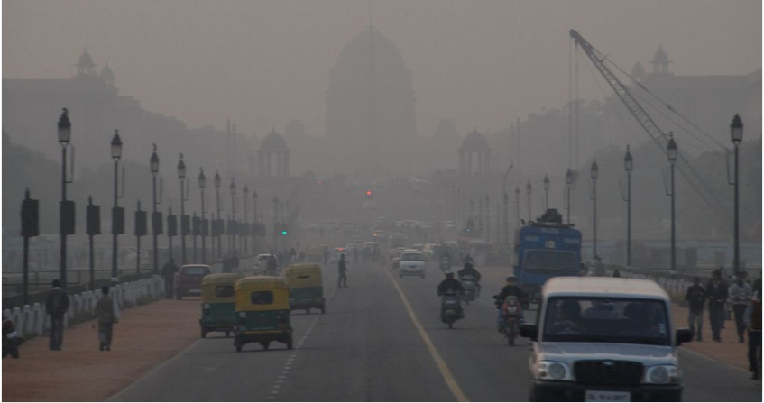 smog new delhi - pollution air - encyclopedie environnement
