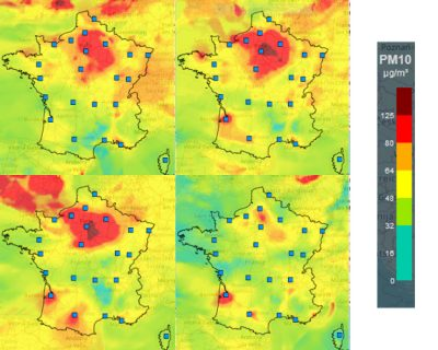 cartes france PM10 qualite air - encyclopedie environnement - air quality