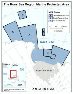 zone peche krill antarctique - ross sea marine protected area