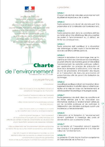 charte de l'environnement - charte environnement - environmental charter