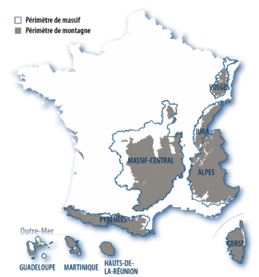carte massifs français - massifs france - montagnes france - map french massifs - mountains france
