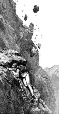 gravure edouard whymper - escalades dans les alpes