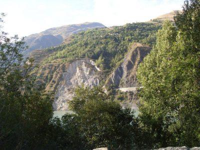glissement terrain chambon - glissement terrain montagne - landslide of chambon 2016