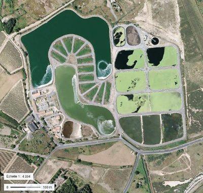 环境百科全书-污水-天然泻湖处理厂鸟瞰