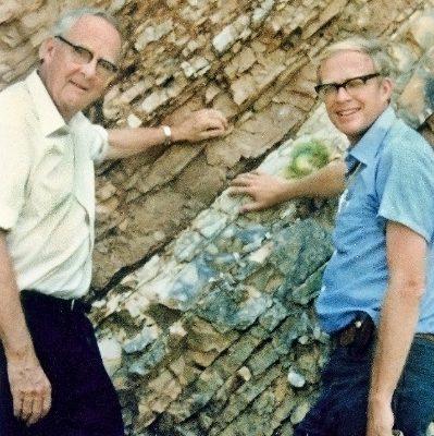 Luis W. Alvarez et son fils Walter