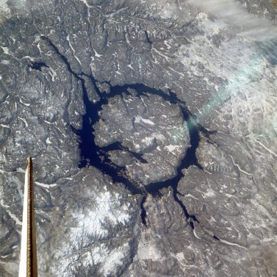 manicouagan - cratere manicouagan - Aerial view of the Manicouagan crater
