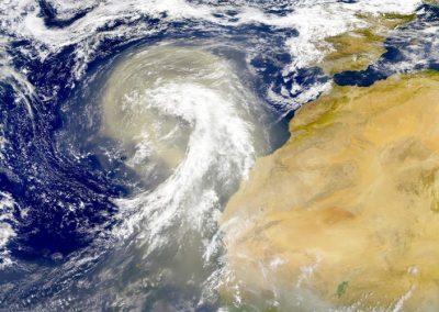 aerosol eolien sahara - wind turbine sahara