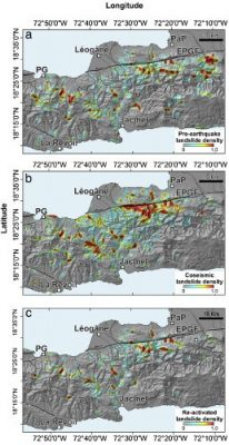 densite mouvements terrain haiti - seisme haiti - earthquake haiti