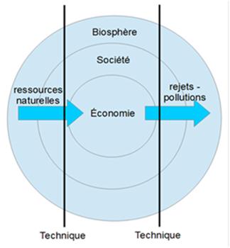 economie environnement schema - economy environment schema
