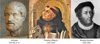 thomas d'aquin - aristote - nicolas oresme