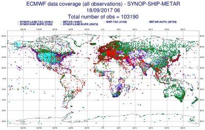 ensite reseau observation meteo - observation meteo monde