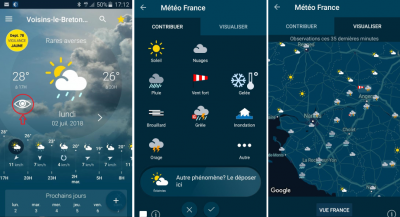 application meteo france