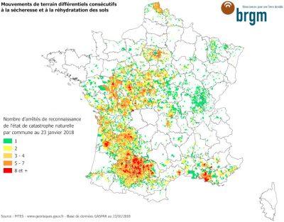 sécheresse communes france