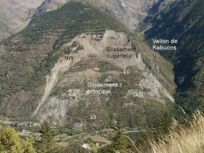 la clapiere - glissement terran