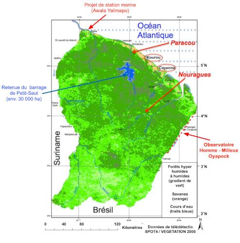 carte foret amazonie - foret amazonie - amazonie