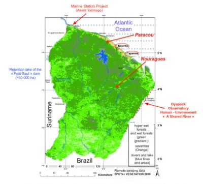 map amazonia forest