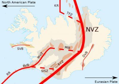 iceland - iceland map - tectonic plates iceland