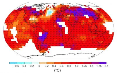 evolution temperature terre 1901-2012 - temperature terre surface