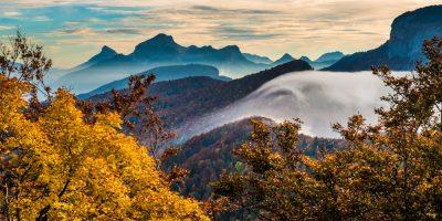 Foehn effect - chartreuse alps