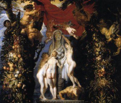 nature trois graces tableau rubens bruegel