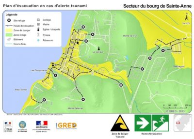 plan evacuation martinique tsunami