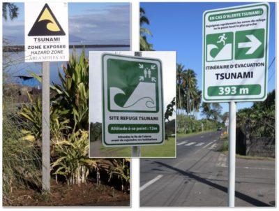 panneaux signalisation tsunami polynesie francaise