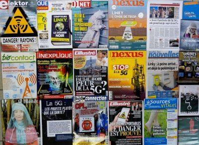 Couvertures magazines santé radiofréquences