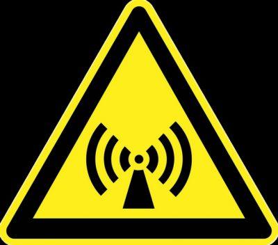 Pictogramme signalisation rayonnements non-ionisants