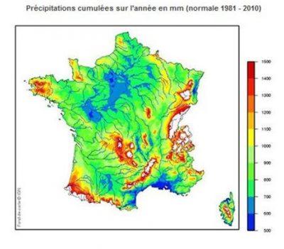 average annual precipitation water